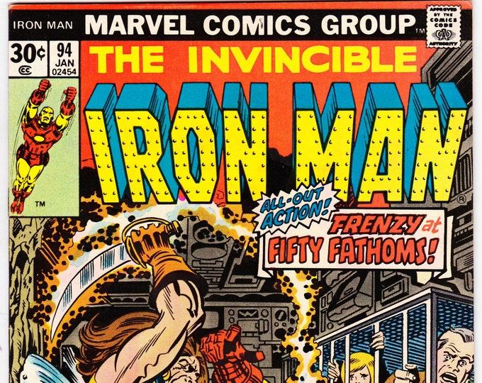 Iron Man #94 (1st Series 1968 ) January 1977    Marvel Comics  Grade VF/NM