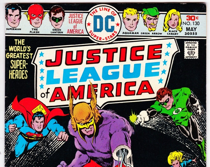 Justice League of America #130 (1st Series 1960) May 1976   DC Comics   Grade VF