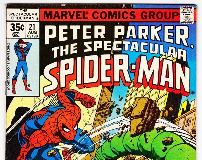 Spectacular Spider Man #21 (1st Series 1976) August 1978   Marvel Comics  Grade F/VF