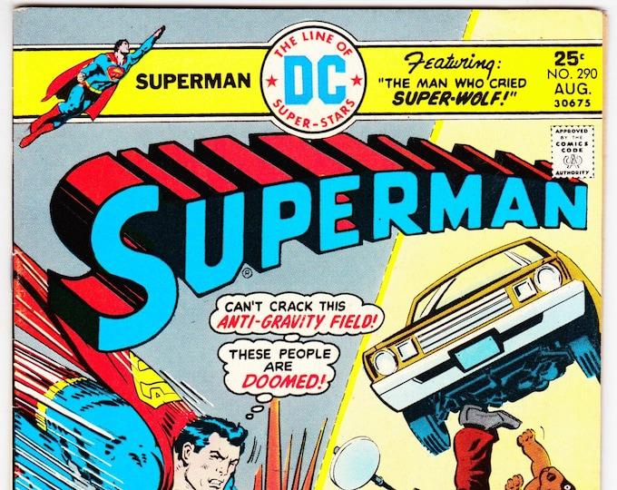 Superman #290 (1st Series 1939) August 1975  DC Comics Grade VF