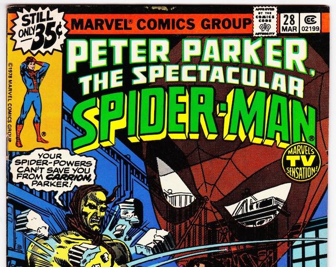 Spectacular Spider Man #28 (1st Series 1976) March 1979   Marvel Comics  Grade VF-