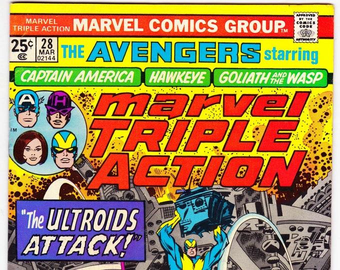 Marvel Triple Action #28   March 1976    Marvel Comics   Grade VF