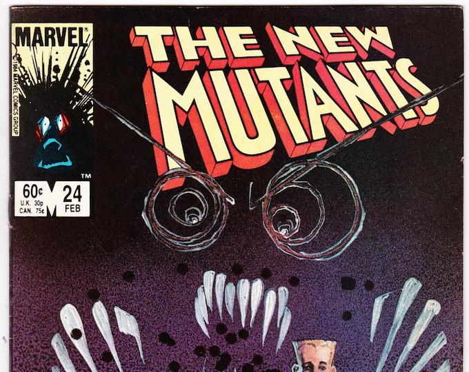 New Mutants #24 (1st Series 1983) February 1985  Marvel Comics Grade VF