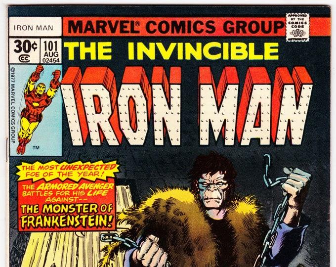 Iron Man #101 (1st Series 1968 ) August 1977    Marvel Comics  Grade VF+