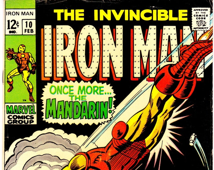 Iron Man #10 (1st Series 1968) February 1969  Marvel Comics  Grade F/VF