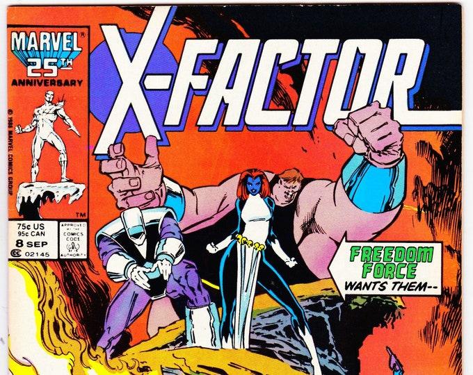 X-Factor #8 (1st Series 1986) September 1986   Marvel Comics   Grade Fine
