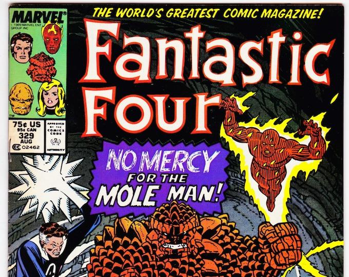 Fantastic Four #329 (1st Series 1961) August 1989   Marvel Comics   Grade F/VF