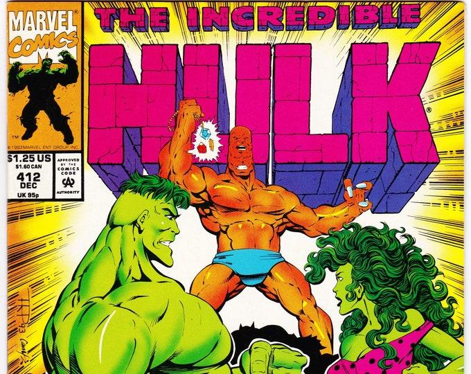 Incredible Hulk #412   December 1993    Marvel Comics   Grade Fine