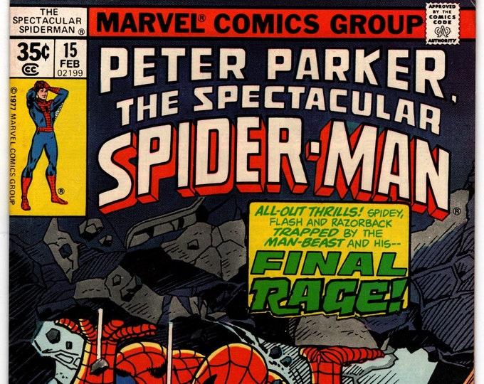 Spectacular Spider-Man #15 (1st Series 1976) February 1978   Marvel Comics  Grade VF