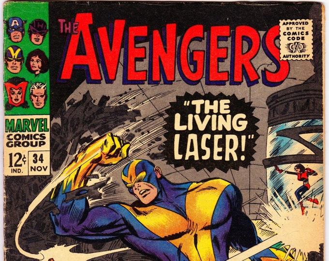Avengers #34 (1st Series 1963) November 1966  Marvel Comics  Grade VG/F