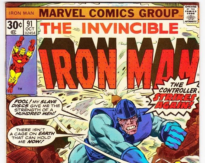 Iron Man #91 (1st Series 1968 ) October 1976   Marvel Comics  Grade VF
