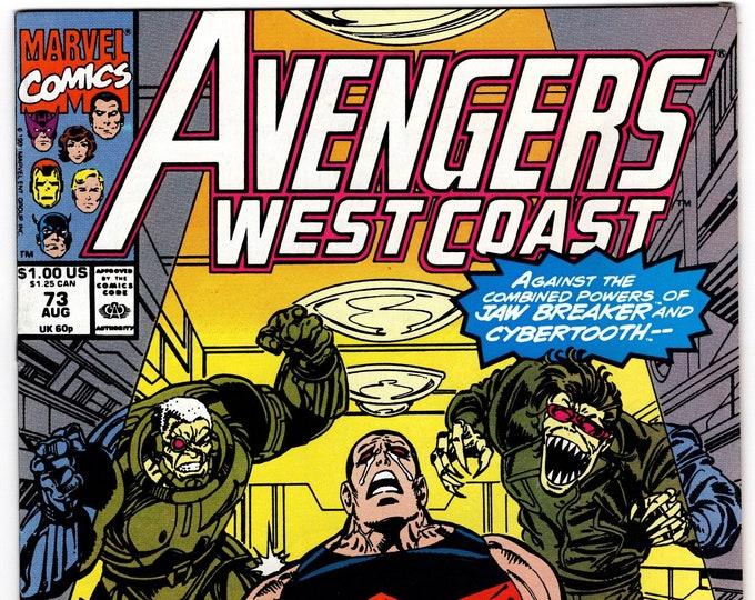 Avengers West Coast #73 (1985) August 1991   Marvel Comics   Grade NM