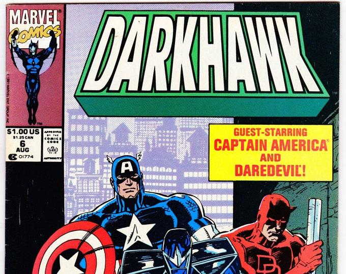 Darkhawk #6    August 1991    Marvel Comics   Grade NM