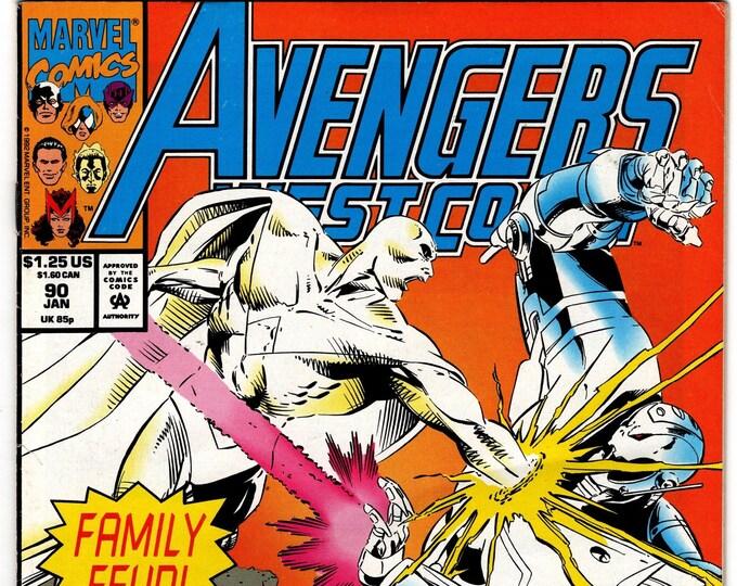 Avengers West Coast #90 (1985) January 1993   Marvel Comics   Grade VF-