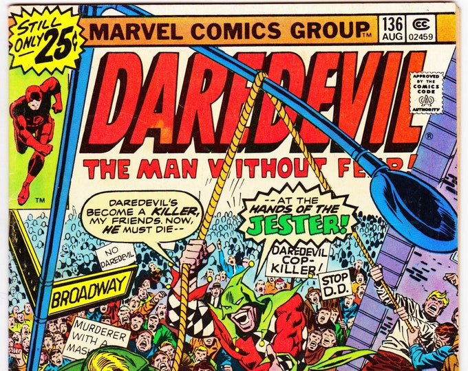 Daredevil #136 (1st Series 1964) August 1976  Marvel Comics  Grade F/VF