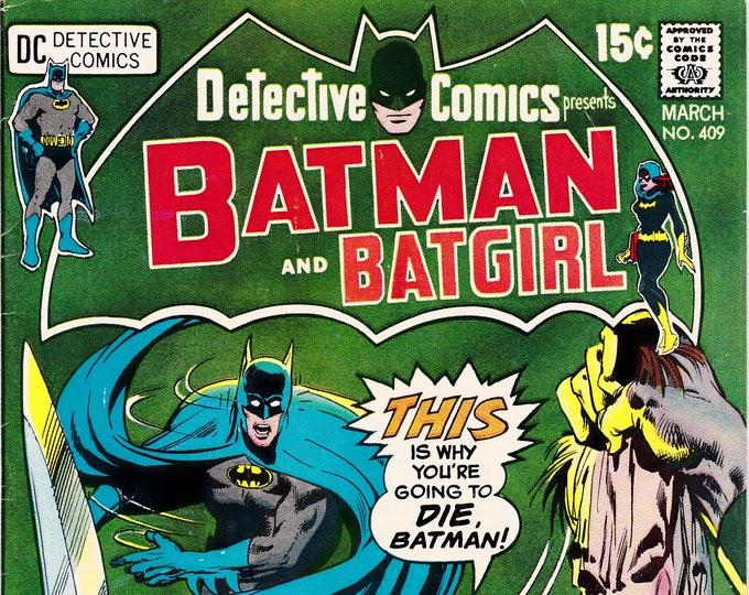 Detective Comics # 409 (1938 1st Series) March 1971  DC Comics  Grade VF