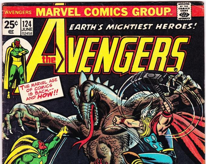 Avengers #124   June 1974     Marvel Comics    Grade Fine