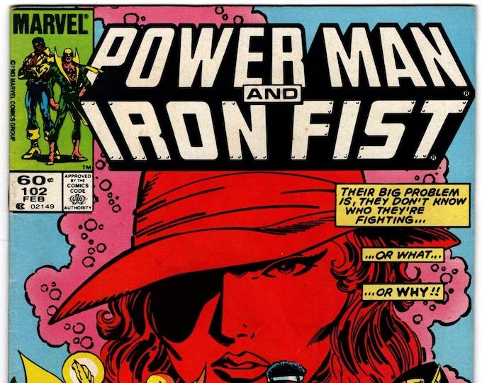 Power Man and Iron Fist #102 (1972 Hero for Hire) February 1984    Marvel Comics   GradeVF-