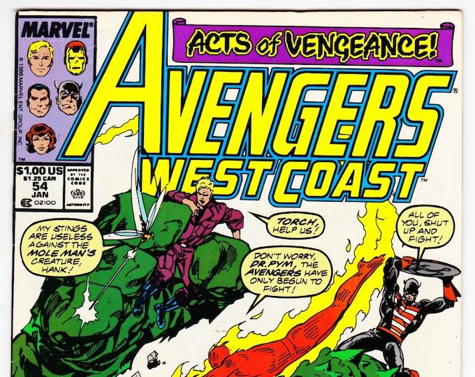 Avengers West Coast #54 (1985) January 1990   Marvel Comics   Grade VF