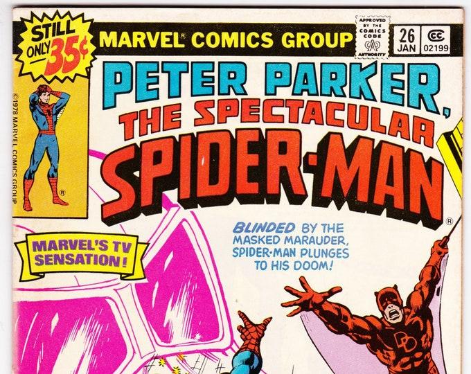 Spectacular Spider Man #26 (1st Series 1976) January 1979   Marvel Comics  Grade F/VF