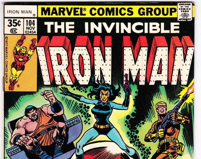 Iron Man #104 (1968 1st Series)  November 1977 Marvel Comics Grade VF