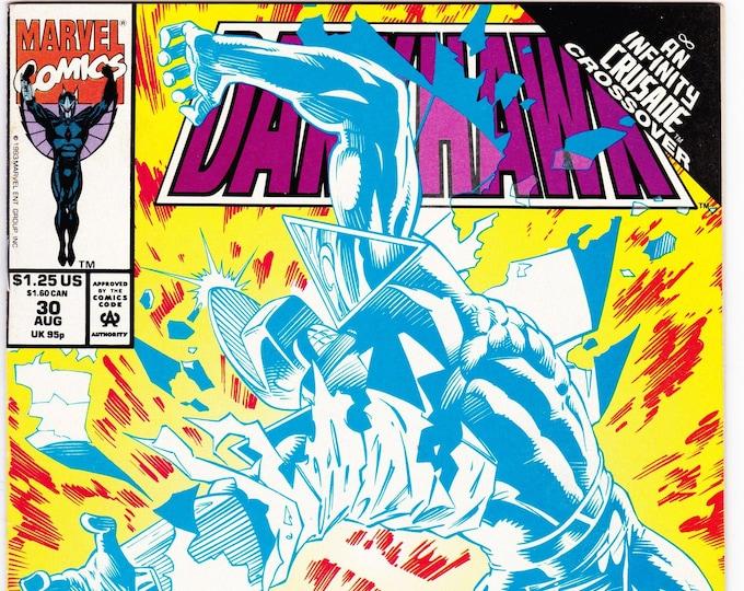 Darkhawk #30    August 1993   Marvel Comics   Grade VF