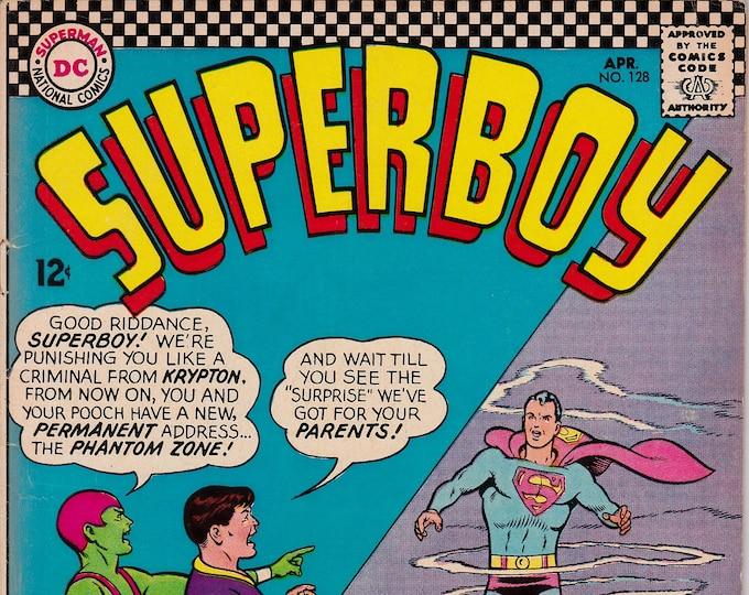 Superboy #128 (1st Series 1949-1979) April 1966  DC Comics  Grade VG/F