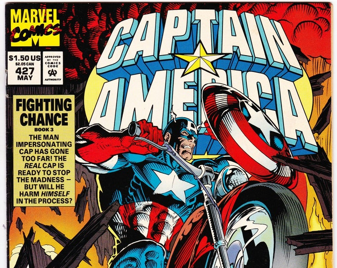 Captain America #427 (1st Series 1968) May 1994     Marvel Comics     Grade VF