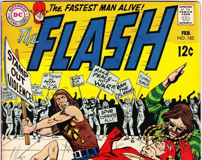 Flash #185 (1st Series 1959) February 1969  DC Comics  Grade Fine+