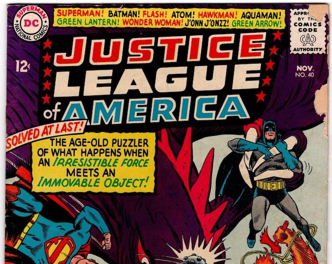 Justice League of America #40   November 1965   DC Comics   Grade G/VG  3rd Silver Age Penguin!