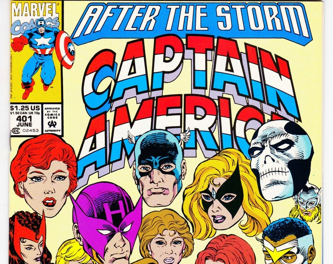 Captain America #401 (1st Series 1968) June 1992    Marvel Comics   Grade NM