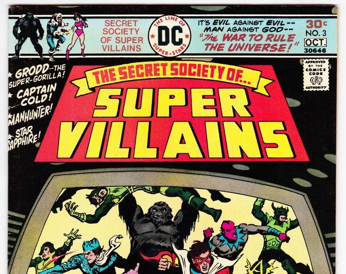 Secret Society of Super Villains #3 (1976) October  1976   DC Comics   Grade VF