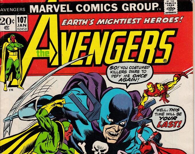 Avengers #107   January 1973  Marvel Comics  Grade F/VF
