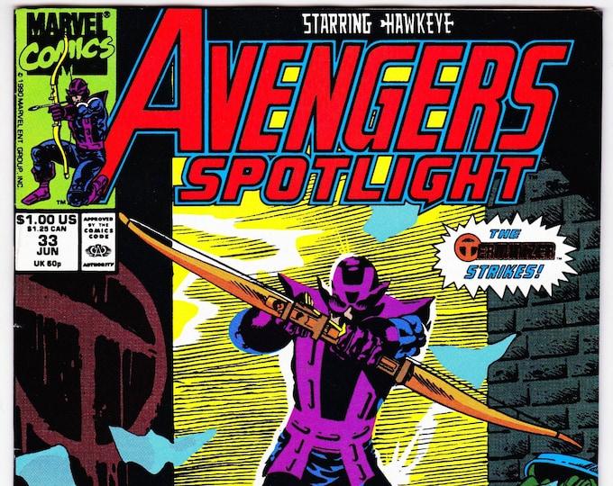 Avengers Spotlight #32     June 1990    Marvel Comics   Grade VF/NM