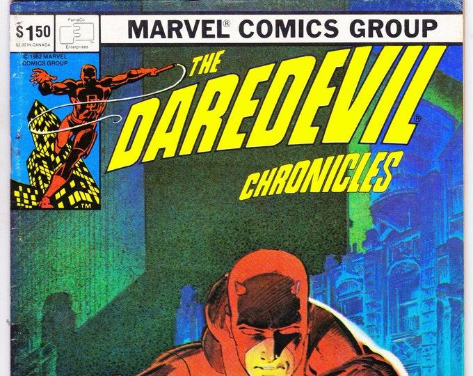 The Daredevil Chronicles #3 (1982) February 1982   FantaCo Comics   Grade VF