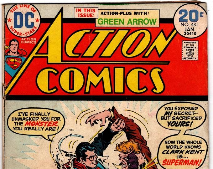 Action Comics #431    January 1974    DC Comics   Grade VG