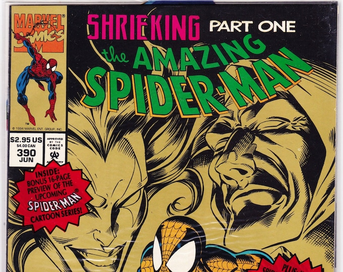 Amazing Spider-Man #390P (1st Series 1963) June 1994    Marvel Comics   Grade NM *MIP*