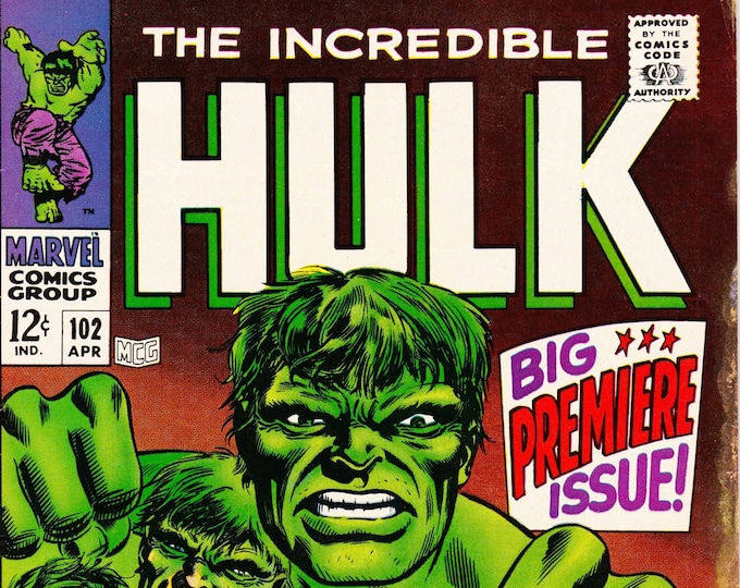 Featured listing image: The Incredible Hulk #102 (1st Series 1962-1999) April 1968  Marvel Comics  Grade VF/NM