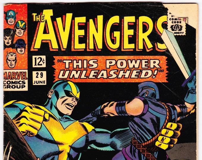 Avengers #29 (1st Series 1963) June 1966  Marvel Comics  Grade VG