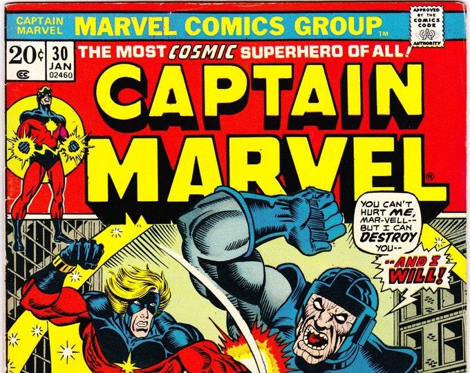 Featured listing image: Captain Marvel #30 (1968 1st Series) January 1974      Marvel Comics  Grade F/VF