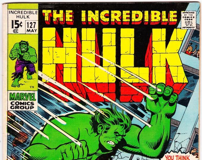The Incredible Hulk #127 (1st Series 1962-1999) May 1970   Marvel Comics  Grade F+