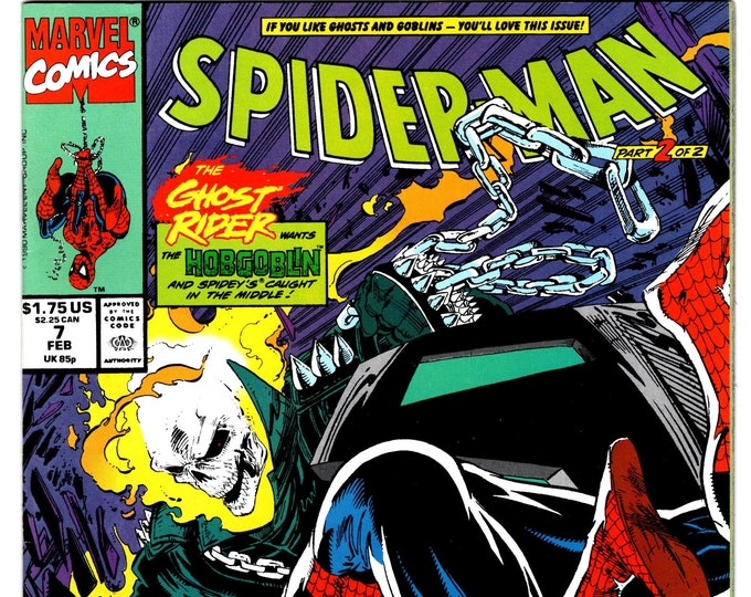 Spider-Man #7 (1990 Series) February 1991   Marvel Comics  Grade NM