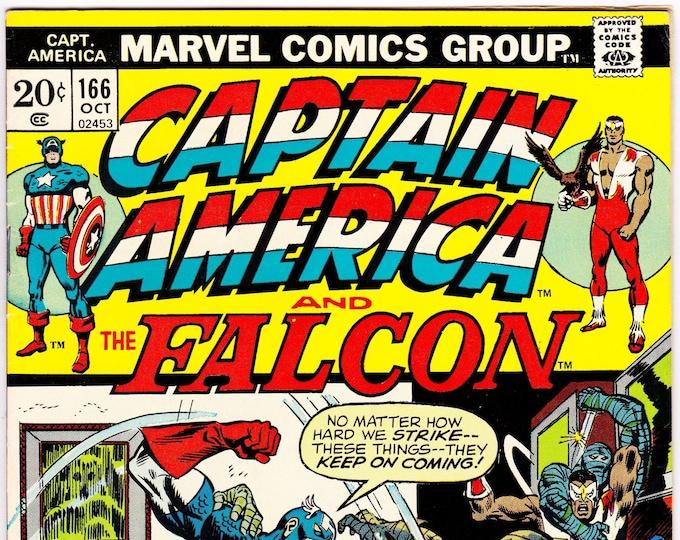 Captain America #166 (1st Series 1968) October 1973   Marvel Comics   Grade F/VF
