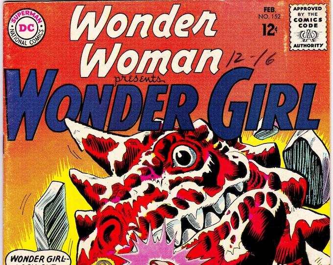 Wonder Woman #152 (1st Series 1942) February 1965     DC Comics    Grade F/VF