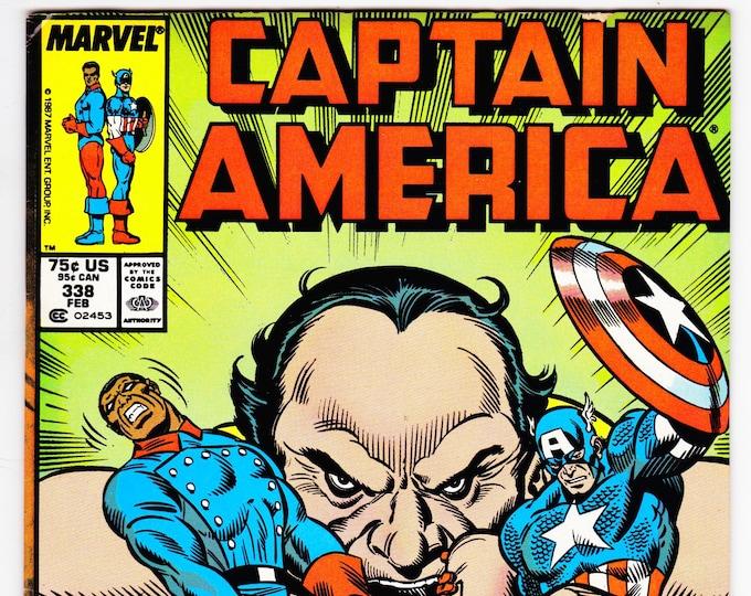 Captain America #338 (1st Series 1968) February 1988   Marvel Comics   Grade F/VF