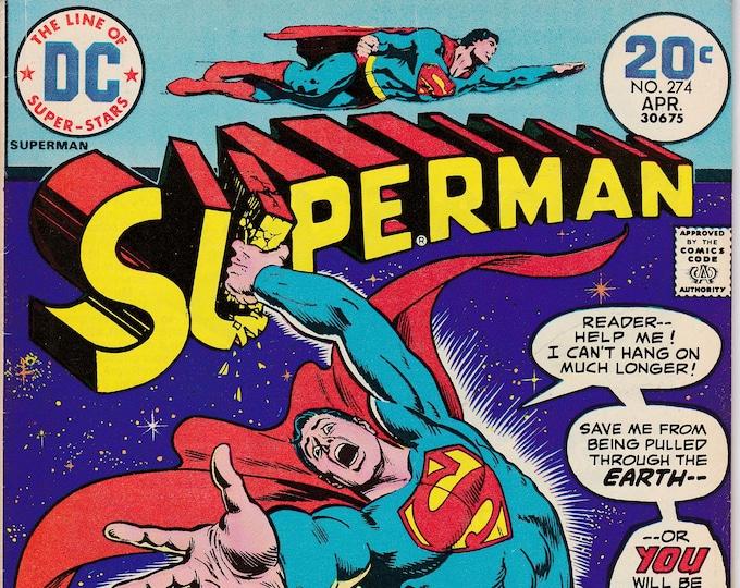 Superman #274 (1939 1st Series) April 1974   DC Comics   F/VF