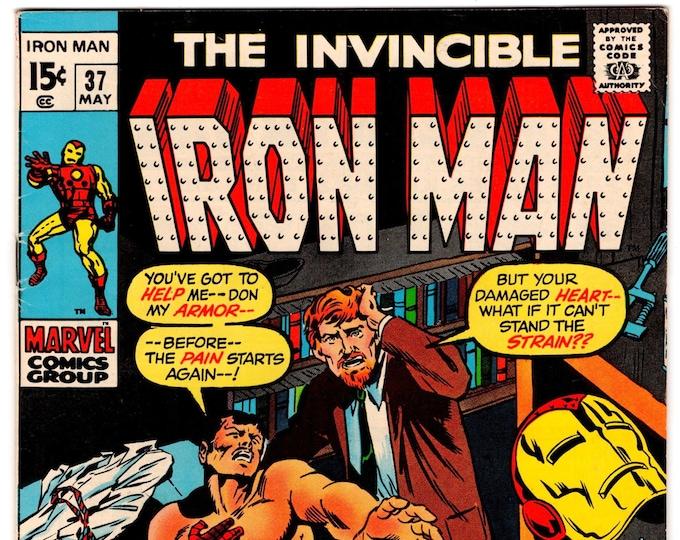 Iron Man #37 (1st Series 1968) May 1971   Marvel Comics  Grade VF