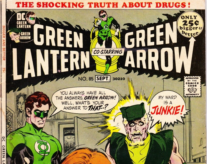 Featured listing image: Green Lantern #85 (1st Series 1960-1980) September 1971    DC Comics   Grade Fine