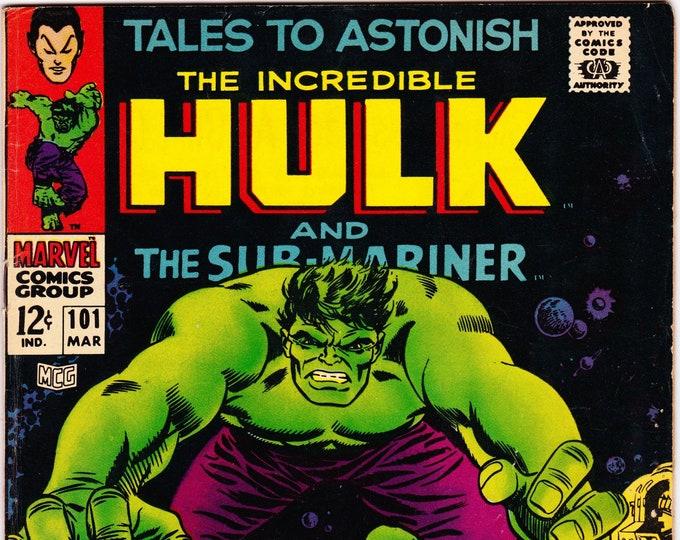 Tales to Astonish #101 (1959-1968 1st Series) March 1968    Marvel Comics     Grade F/VF