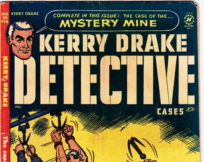 Kerry Drake Detective Cases #30 (1st Series 1944) February 1952     Harvey Comics   Grade VG